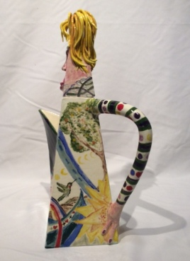 Mad Hatter's Wife teapot side
