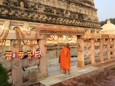 Monk at Bodhgaya temple