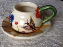 Sun plate with butterfly mug for Aubrey