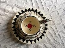 Acoma style mug and plate for Zimri