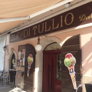 Ice cream shop in Alvito, Italy