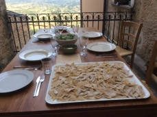 Homemade pasta, a neighbor's gift, Peschio village,