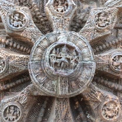 Wheel hub, Konark Sun Temple
