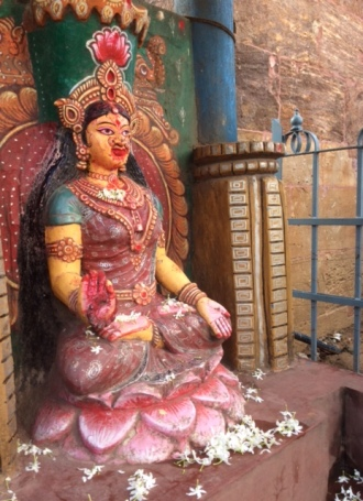 Goddess beside the Jagnnath Temple