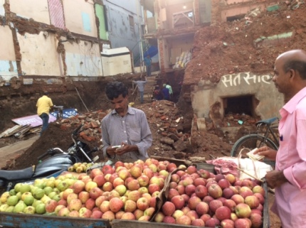 Fruit seller outside Jagnnath temple