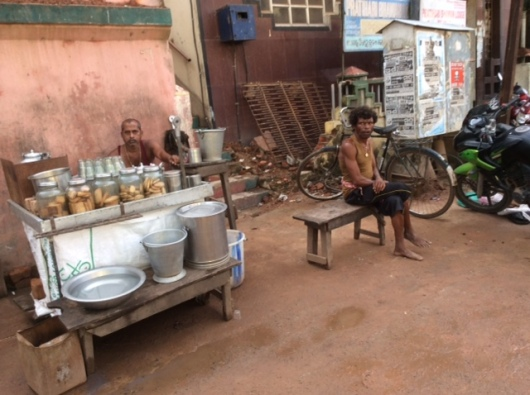 Street stall sellers beside the Jagnnath Temple