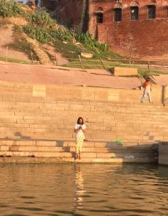 Prayer on Ganges River bank