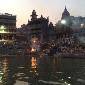 Funeral pyres, Varanasi