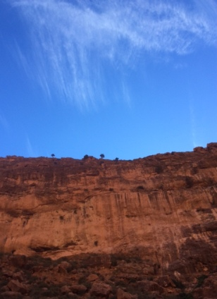 Todra Gorge cliff and sky