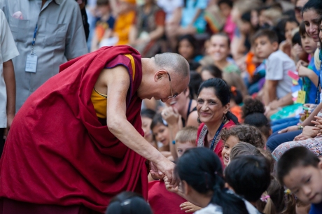 Dalai Lama, photographer Mark Cowan