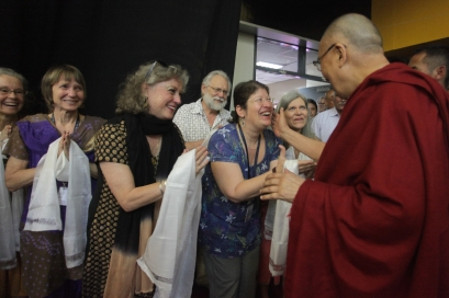Dalai Lama, and AES sangha members, photographer Eric Johnson