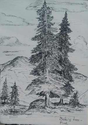 pine, pen & ink: Anna Citrino