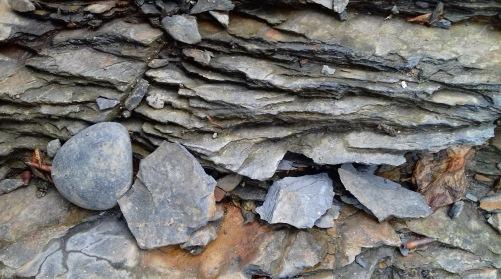 River rock, Lake District, UK