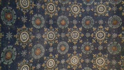 """Ceiling in Mausoleum of Galla Placidia next to the Church of Santa Croce, inspiration of Cole Porter's """"Night and Day"""""""